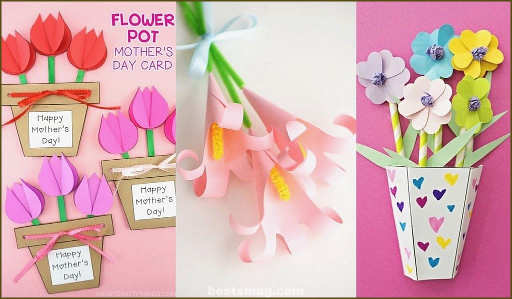 Flowers bouquets crafts to do with children