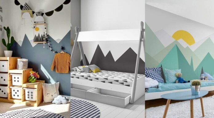 Trend painted walls with mountains