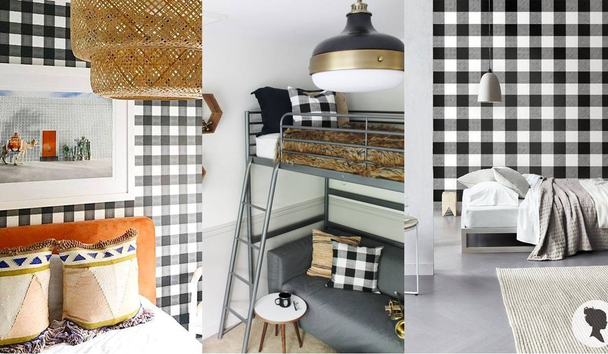 Checkered trend decoration