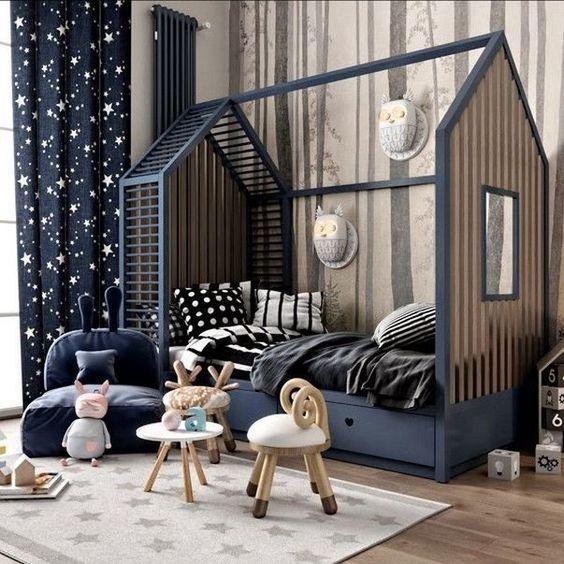 Trendy children's house bed