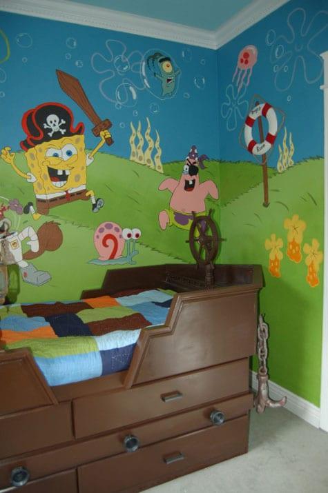 Spongebob themed children's rooms
