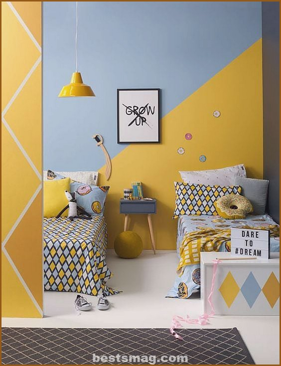 Children's rooms with geometric walls