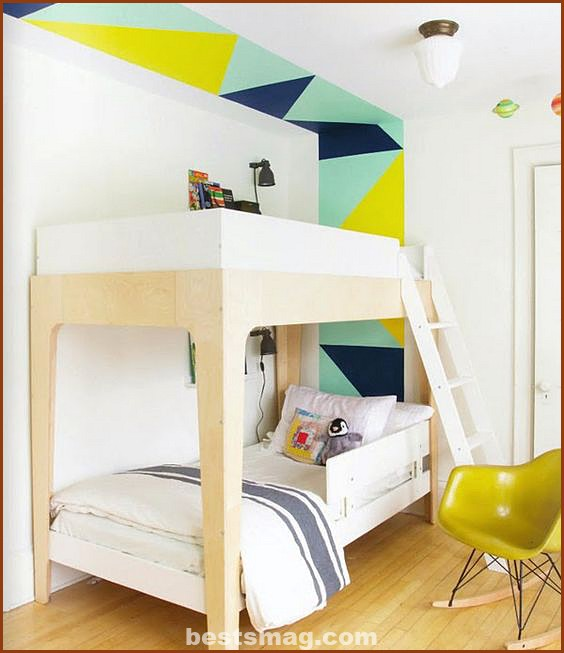 Youth rooms with geometric walls