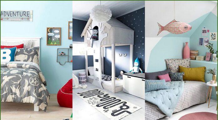 Pintar de azul las habitaciones de los niños