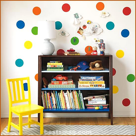 Decorate with colored polka dots