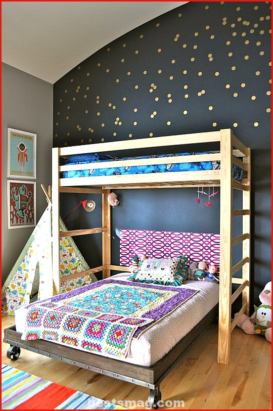 Photos children's rooms with polka dots