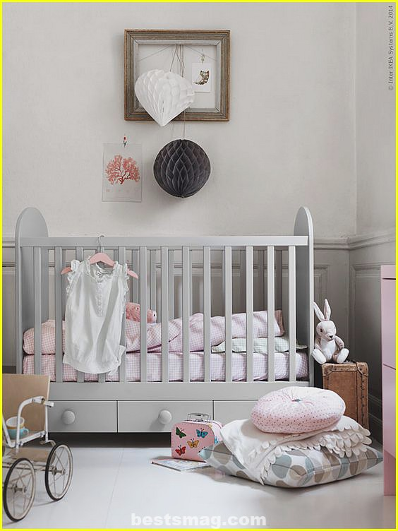 Baby rooms Ikea Gonatt crib