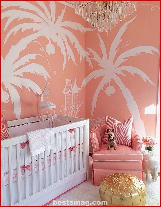 Pantone 2019 Living Coral baby rooms