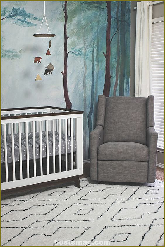 Forest baby room, ideas, photos