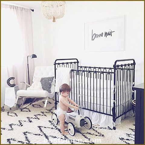 Black and white bedrooms for babies
