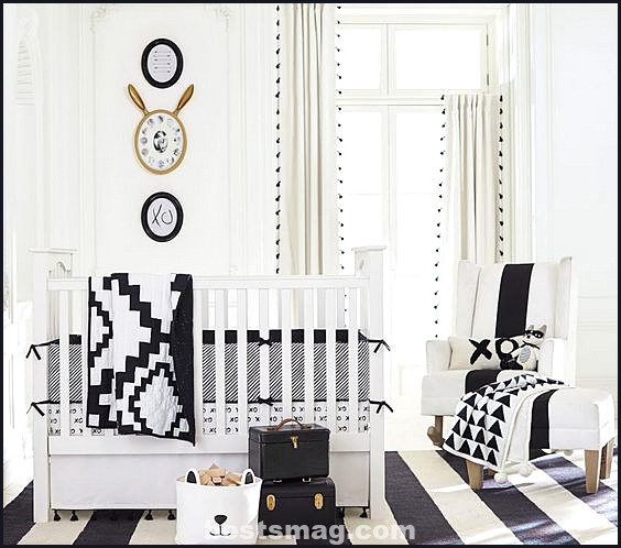 Black and white baby bedrooms