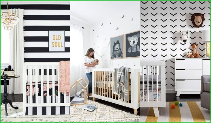 Black and white baby room