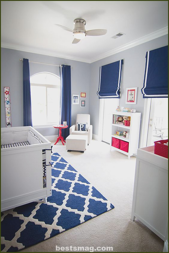 Gray and blue bedrooms for babies