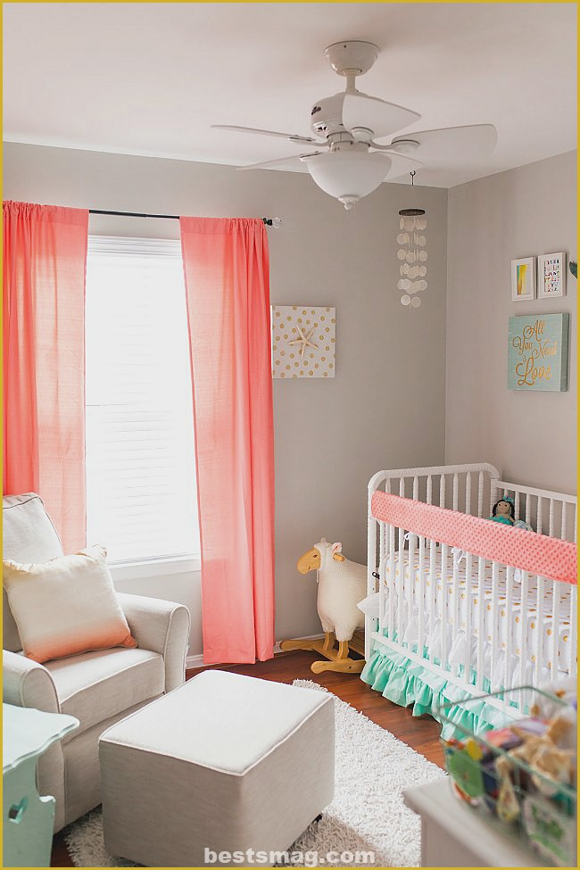 Gray and pink bedrooms for babies