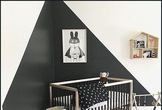 Ideas for painting the baby's room in two colors