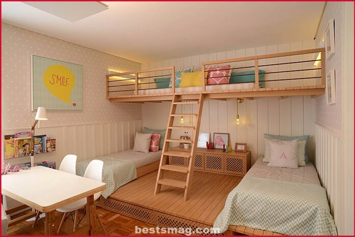 Twin bed girls room