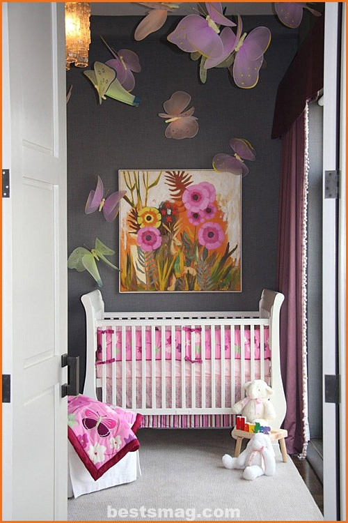 Baby decoration: butterflies