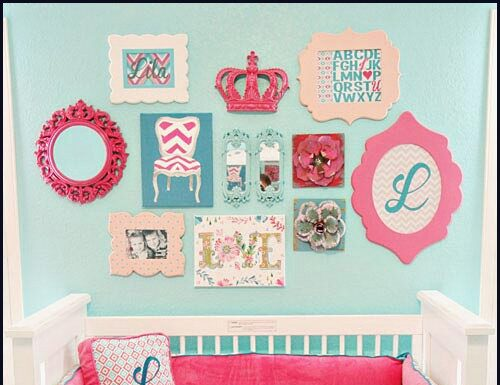Baby blue and pink decoration ideas