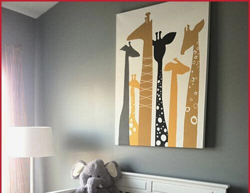 Ideas for baby rooms: Giraffes