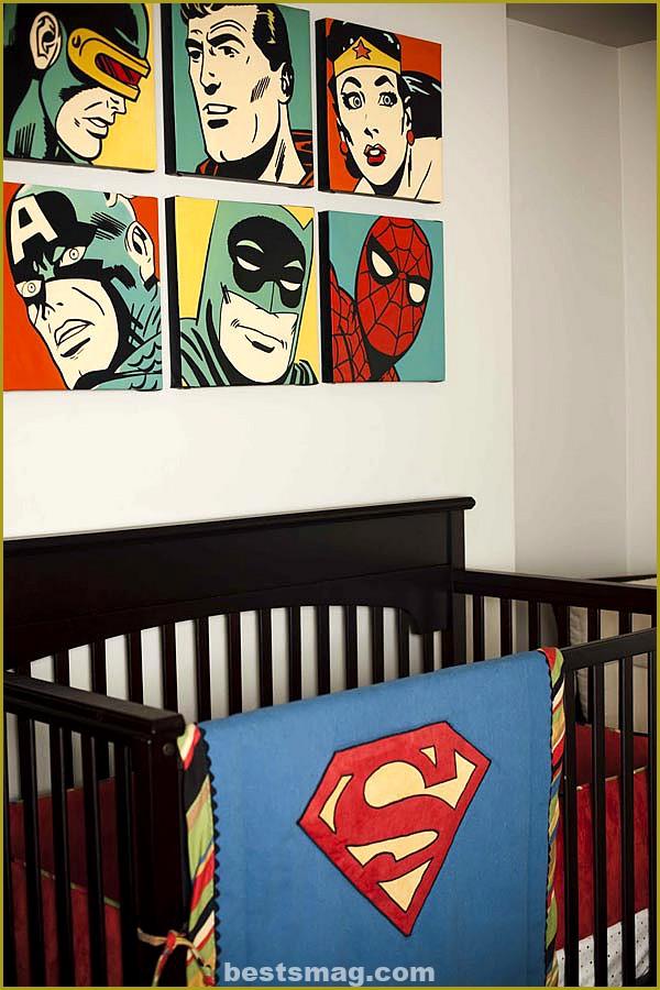 Super Heroes baby room