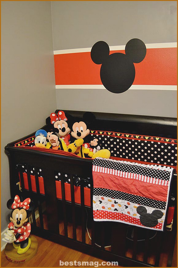 Mickey Decorated Baby Bedroom
