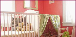 Baby room with play cabin