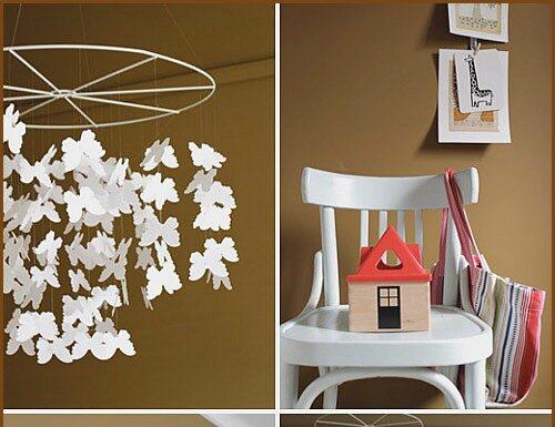 Paint the baby's room in brown tones
