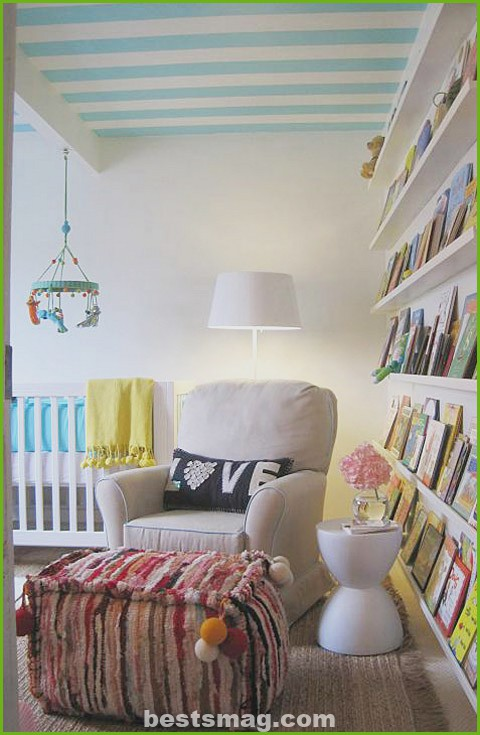 Baby's bedroom with space for reading
