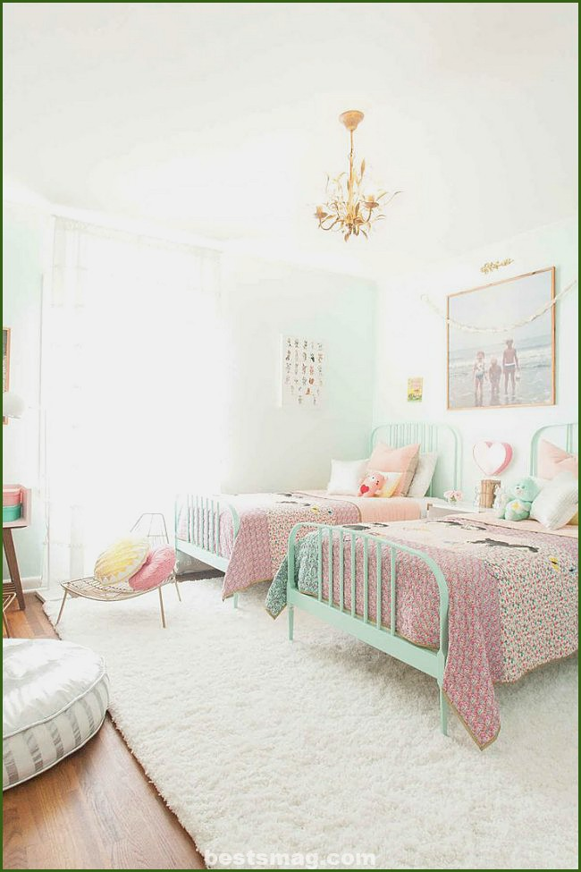 8 Rooms for girls in pink and pastel green