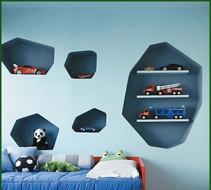 Decorate with brick shelves