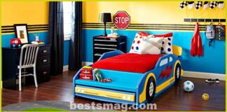 Decorate a bedroom for future racing drivers