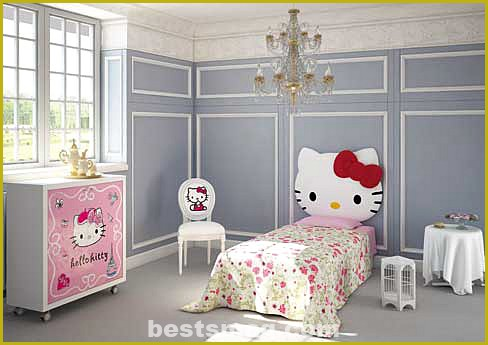 Hello Kitty children's rooms