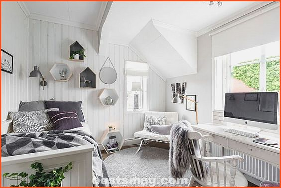 Scandinavian-style youth rooms