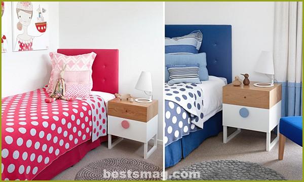 Pink or blue bedroom