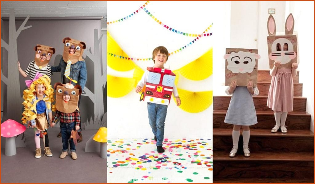 Costumes made with paper bags