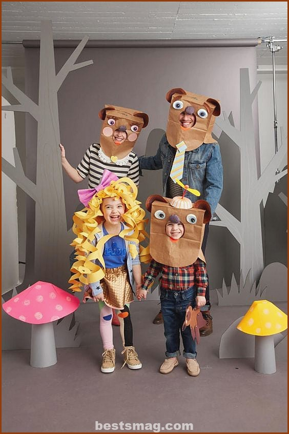 Paper Bag Family Costume
