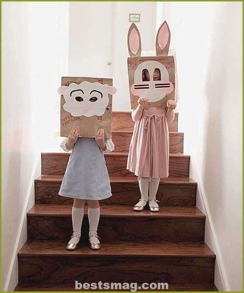 Masks with paper bags