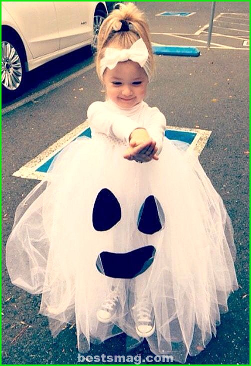 Ghost costume with tulle