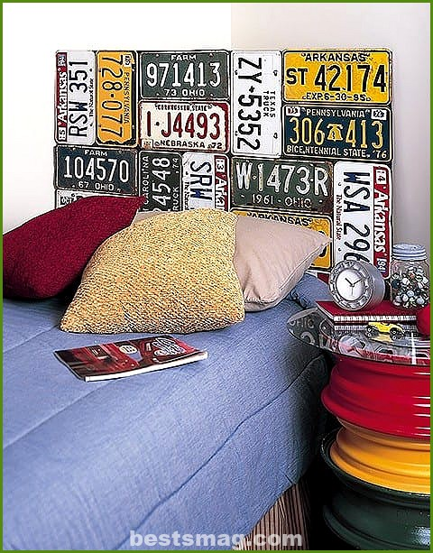 Decorate with car license plates