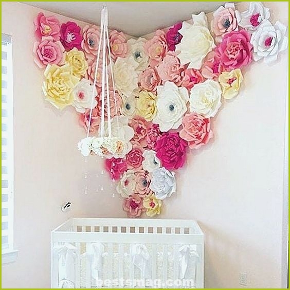 Children's decoration with paper flowers
