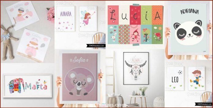 Mejores láminas infantiles con nombre