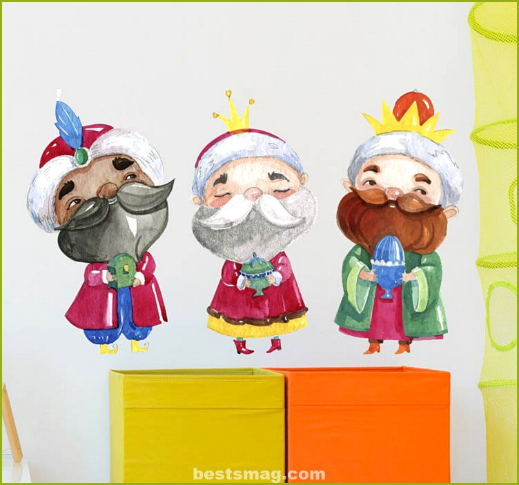 Three Wise Men vinyl ideal to decorate the children's room