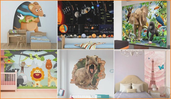 Get a surprising finish in your children's room with Tenvinilo