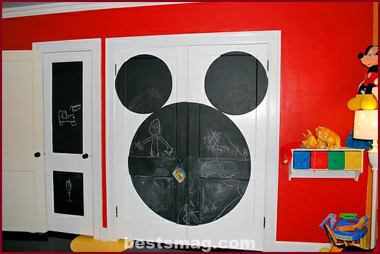 Wardrobe for children how to decorate them