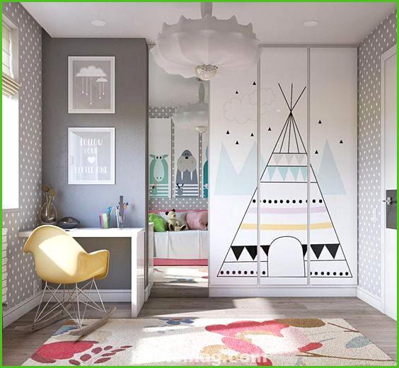 Decorate the children's closet