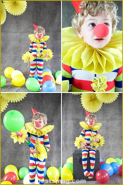 Homemade clown costume