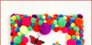 Pom pom pictures that you can make at home