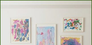 Decorate with children's drawings