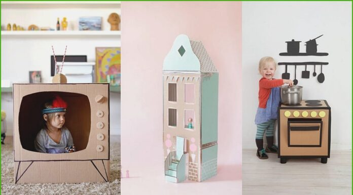 Children's crafts with cardboard boxes Fun guaranteed!