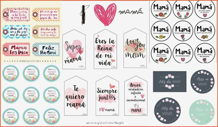 Mother's Day Labels * FREE Printables